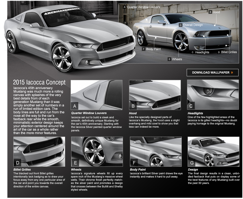 insane 2015 ford mustang renderings! bullitt, iacocca & eleanor
