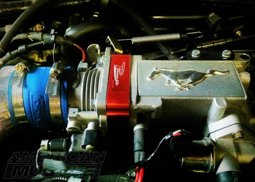 Airaid Throttle Body Spacer on a Stock 1999-2004 Mustang GT Plenum