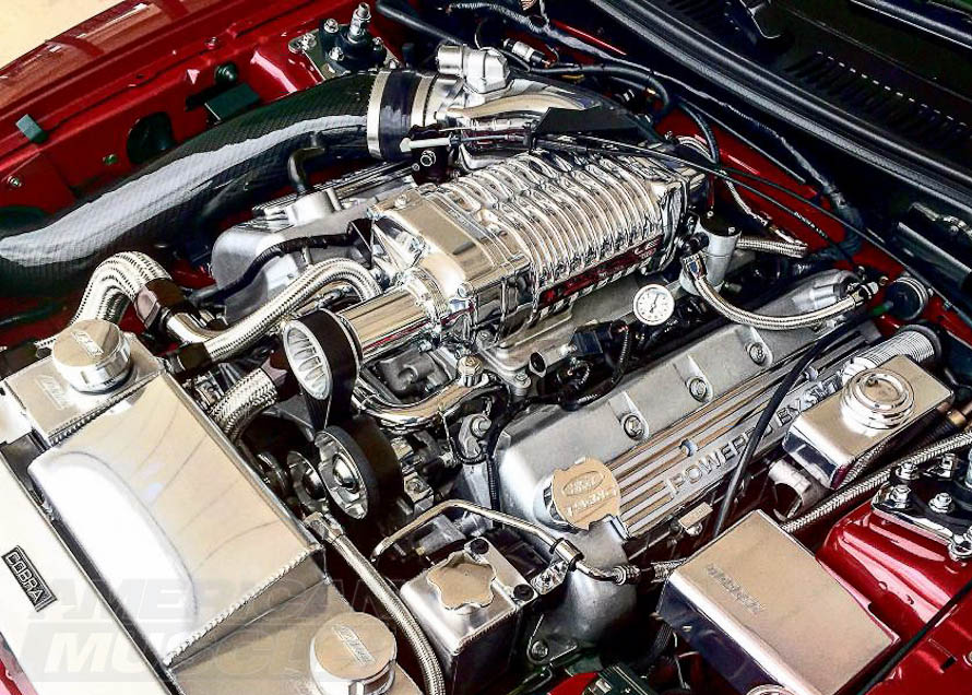 Polished Whipple Supercharger Setup on a 2003-2004 Cobra Mustang