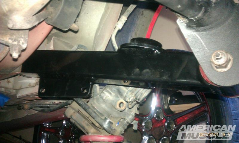 Steeda Aluminum Rear Control Arm Installed on a Mustang