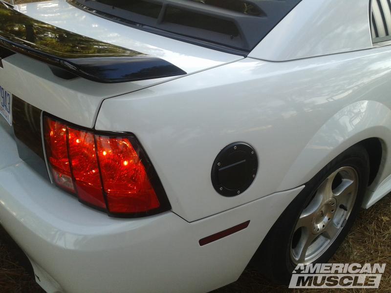 1999-2004 Mustang with Black MMD Fuel Door