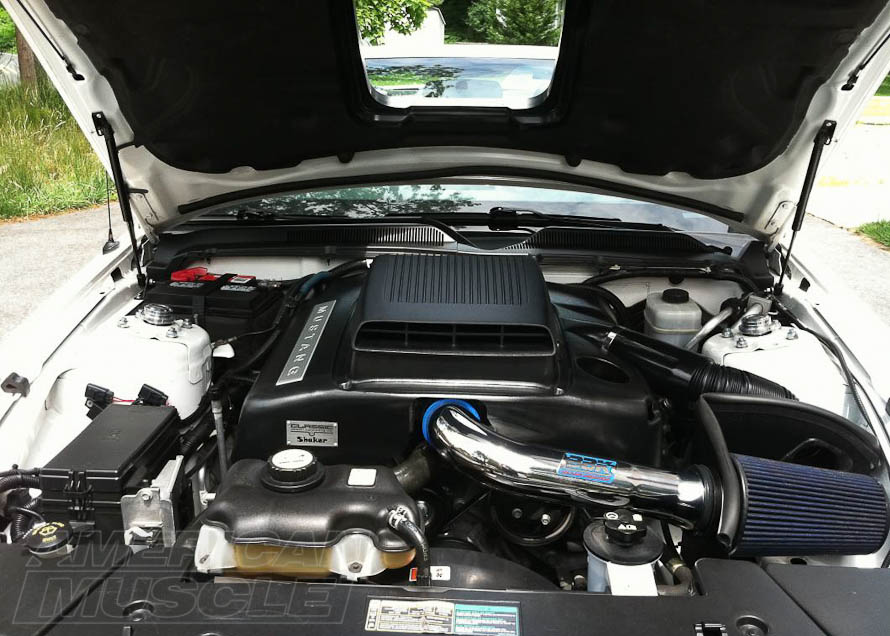 CDC Shaker Intake System Installed on a 2005-2009 V6 Mustang
