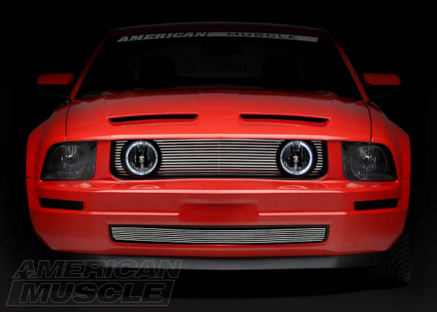 2005-2009 Mustang with a GT Style Billet Grille