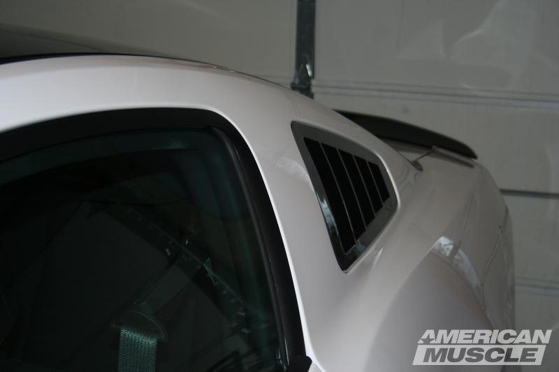 Flush Style Mustang Quarter Window Louver