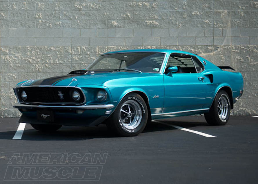 1969 Mach 1 Mustang with Rear Window Louvers