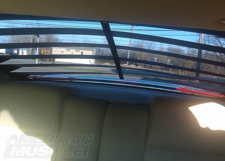 Interior View Through Aluminum Rear Window Louvers