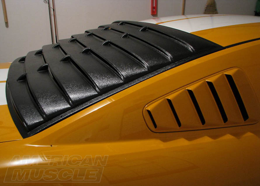 Speedform ABS Plastic Rear Window Louvers for 2005-2014 Mustangs