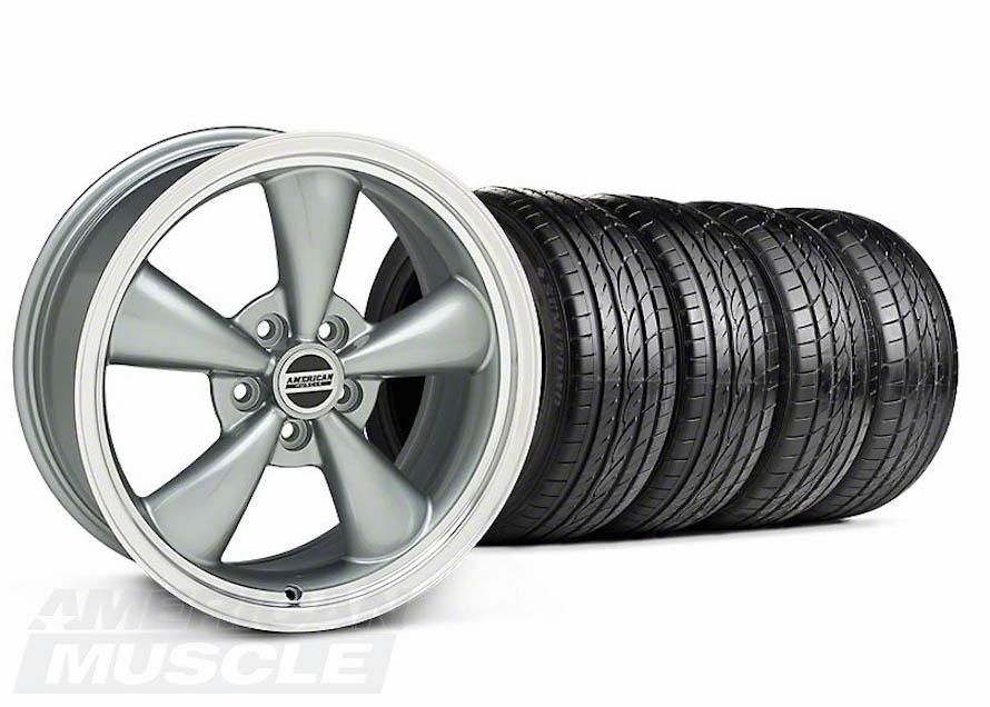 Anthracite Bullitt Rim and Tire Mustang Kit