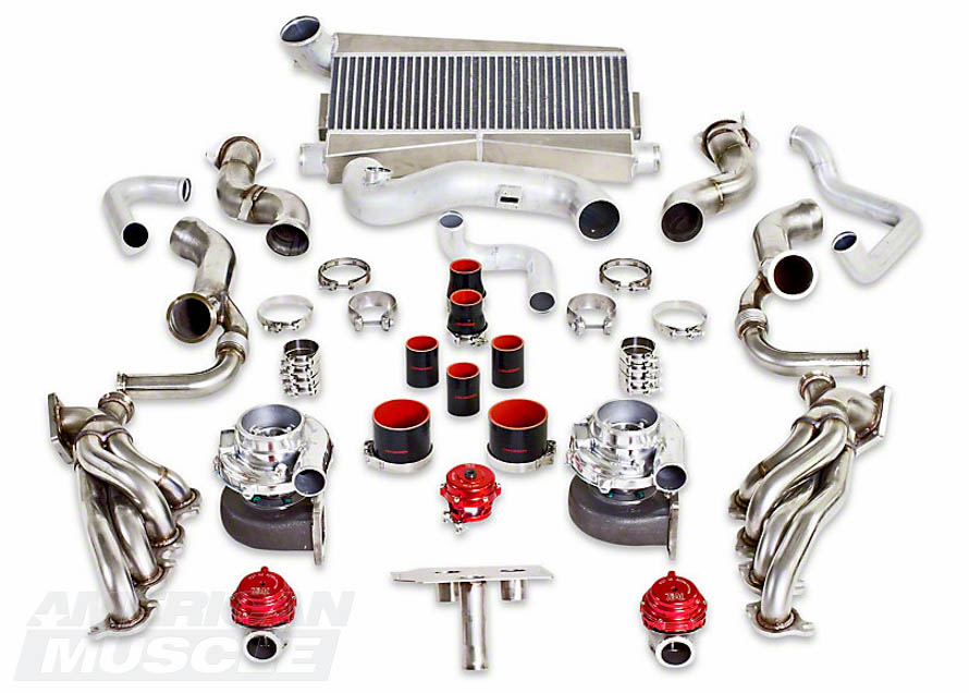 2011-2014 GT & Boss Twin Turbocharger Kit with Stainless Steel Headers