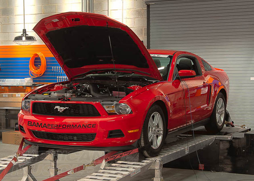 2011 V6 Mustang on a Dyno