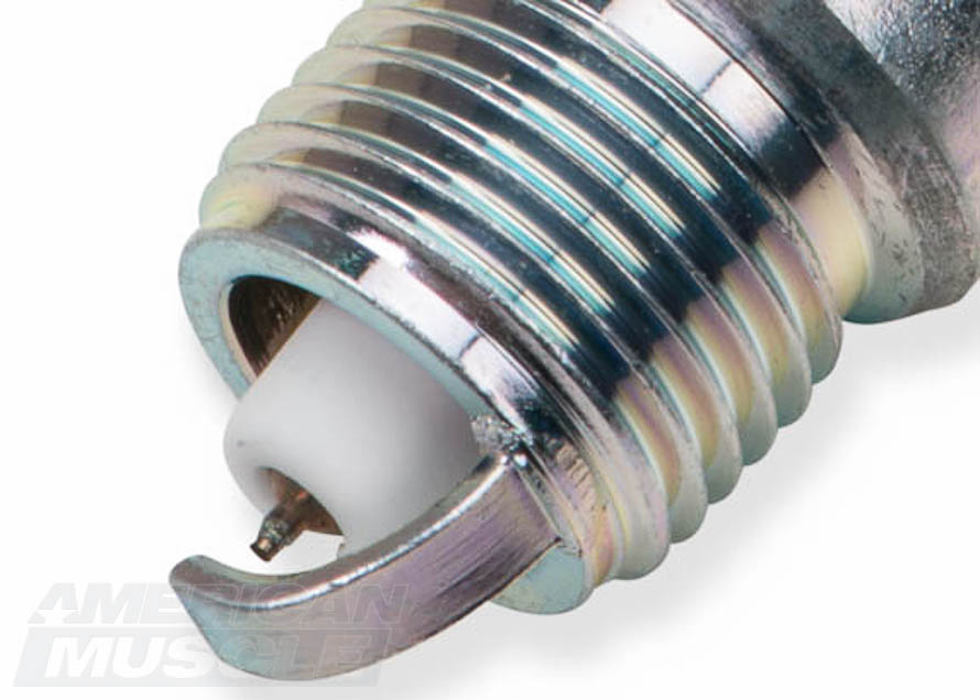 Number Four NGK Spark Plug Tip Close-Up