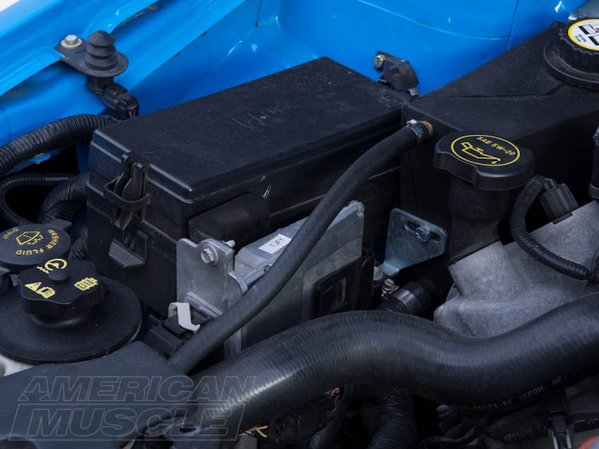 2005-2009 Mustang Computer Location