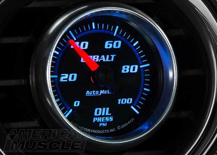 Full Sweep Mustang Oil Pressure Gauge