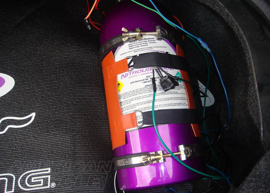Mustang Nitrous Bottle with a Bottle Heated
