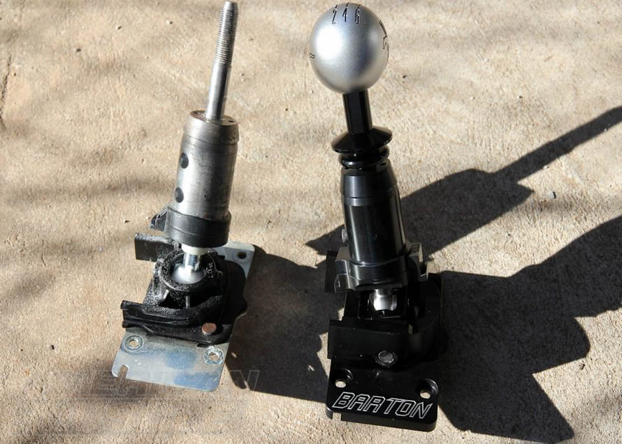 Stock Versus Barton Short Shifter MT-82 for 2011-2014 GT and V6 Mustangs