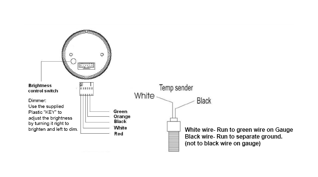 how to install a dual color water temp digital gauge. Black Bedroom Furniture Sets. Home Design Ideas