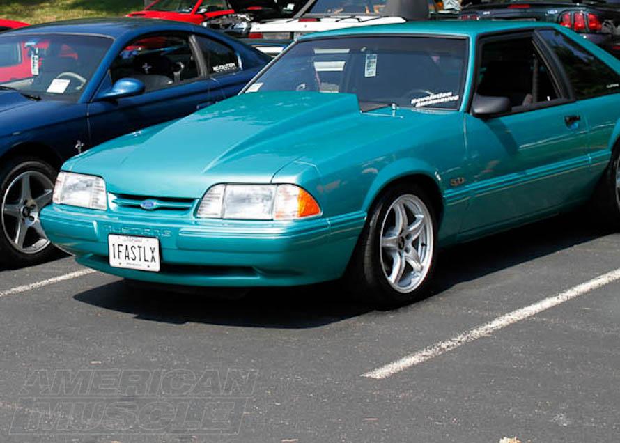 Foxbody Mustang at a Car Show
