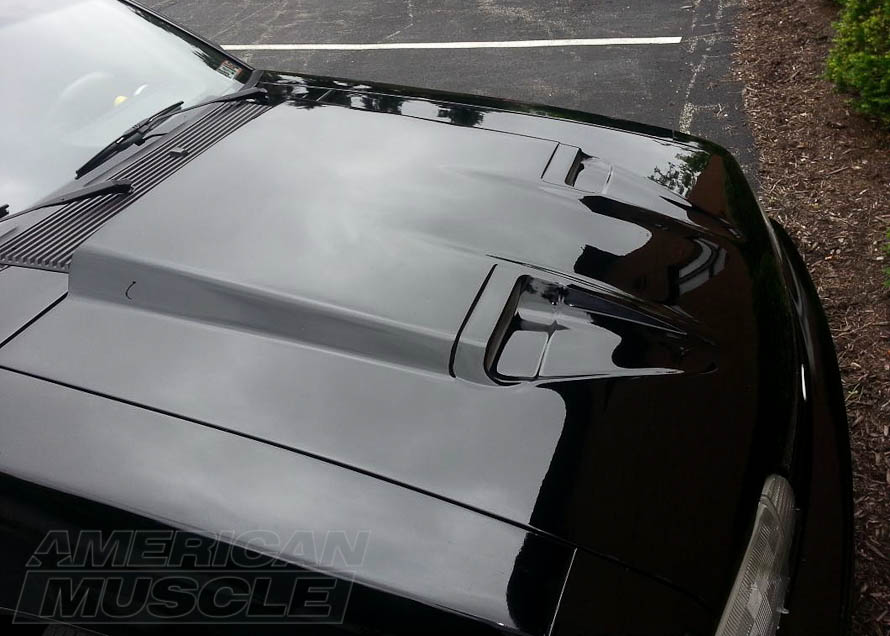 Mach 1 Hood Installed on a 1979-1993 Mustang Foxbody