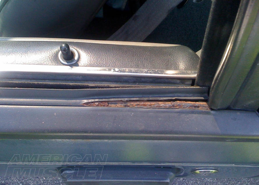 Worn Out Weather Stripping on a Foxbody Mustang