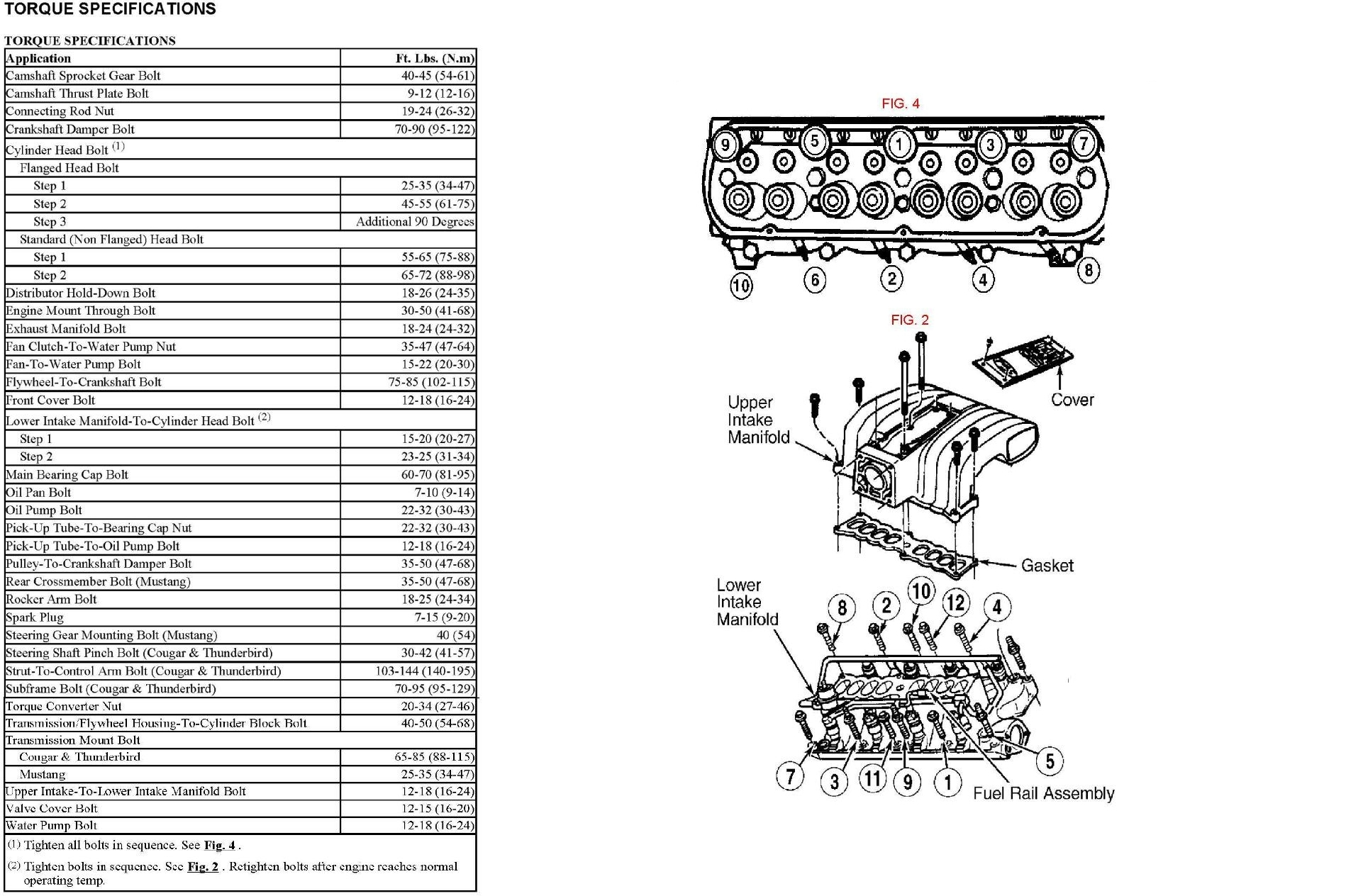 Torquespecs on 2001 Ford Ranger 3 0 Engine Torque Specs