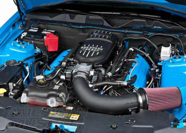 2011-2012 Boss Mustang with a Cold Air Intake