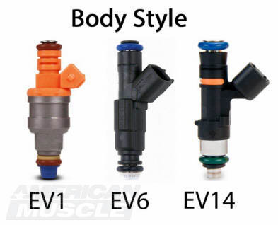 Mustang Fuel Injector Body Styles