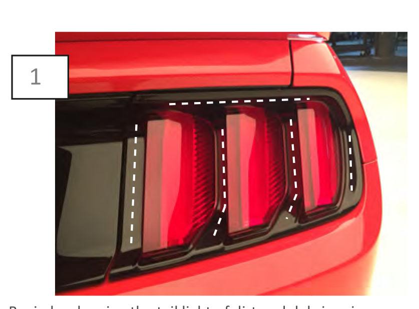 how to install mmd tail light trim on your ford mustang. Black Bedroom Furniture Sets. Home Design Ideas
