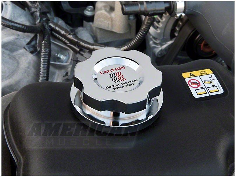 Billet Chrome Coolant Resevoir Cap for 2011-2014 Mustang GTs