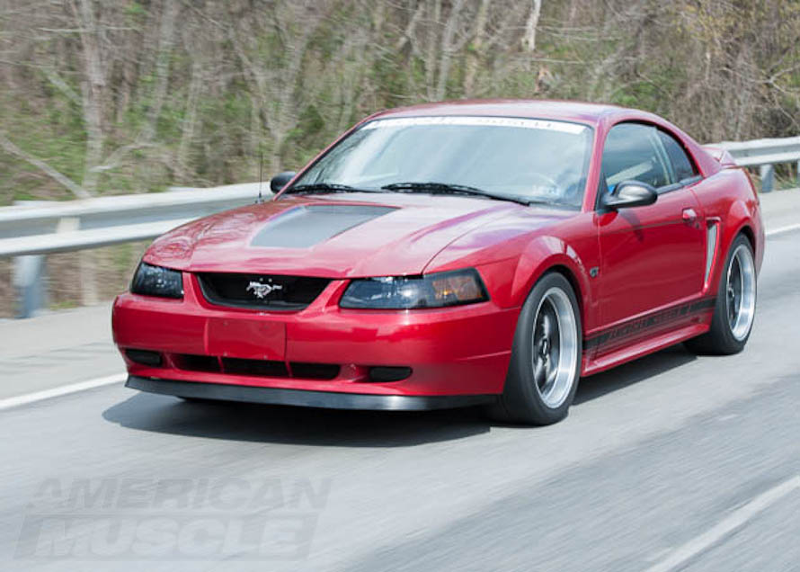 2000 GT Mustang Cruising Down the Highway