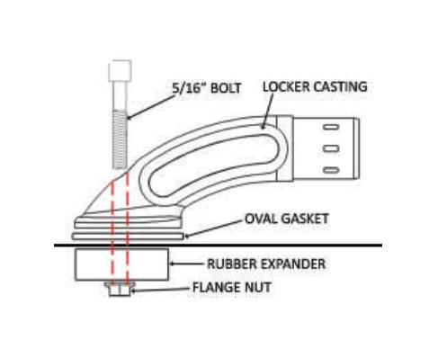 Putco Bed Rail Black Plastic Gasket Replacement