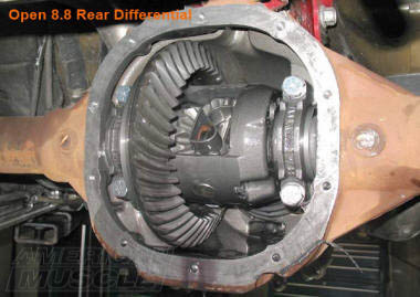 8.8 Mustang Rear Open Differential Installed