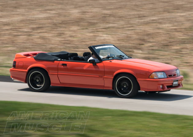Convertible Foxbody Cruising on the Road