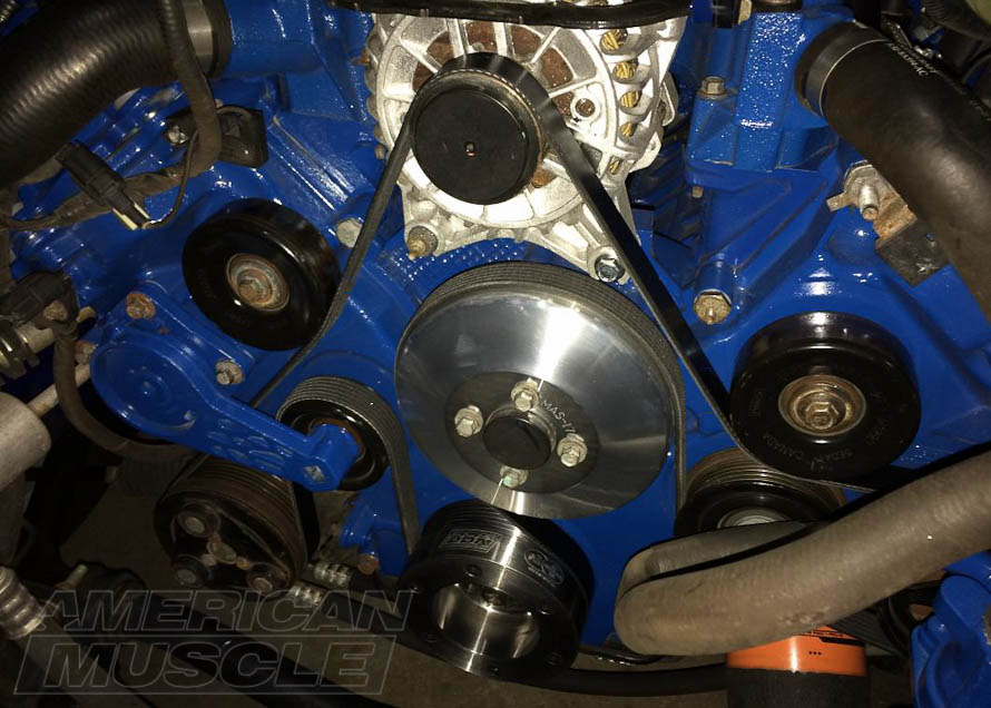 2005-2010 GT Mustang with Underdrive Pulleys Installed