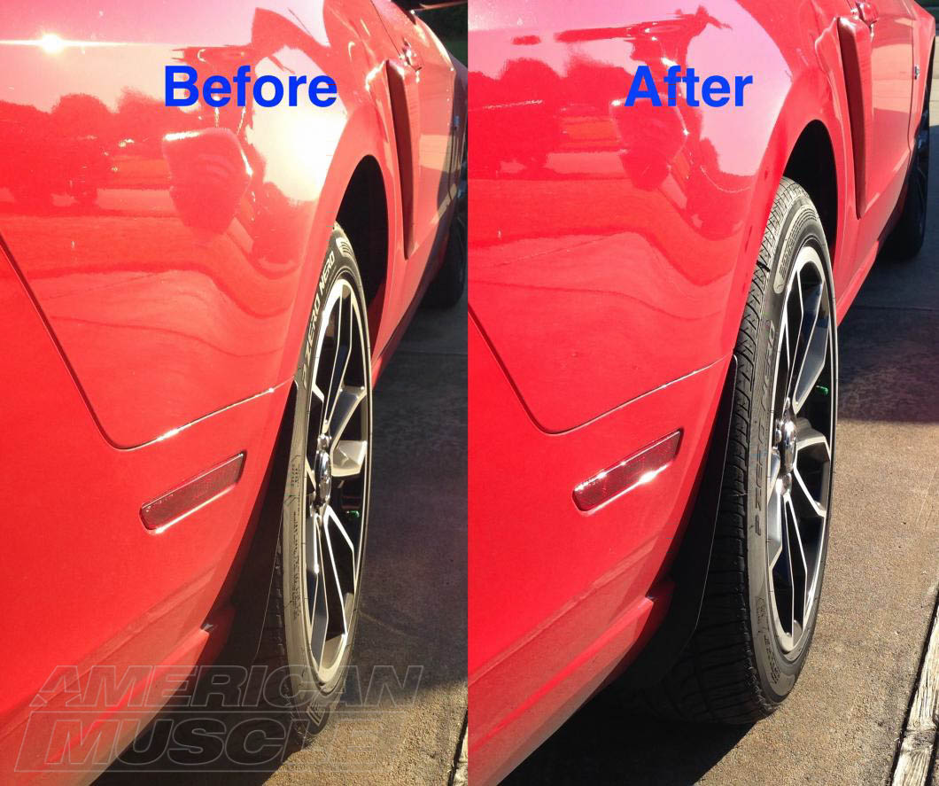 Before after 1in mustang wheel spacers