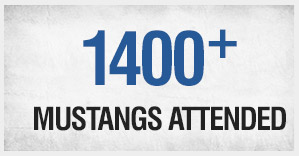 1200+ Mustangs Attended