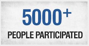 4000+ Participated