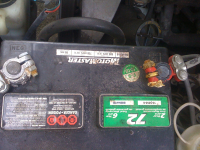 Foxbody Mustang Battery with Terminal Corrosion