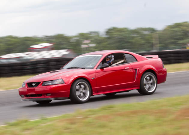 2000 Mustang GT at the Track