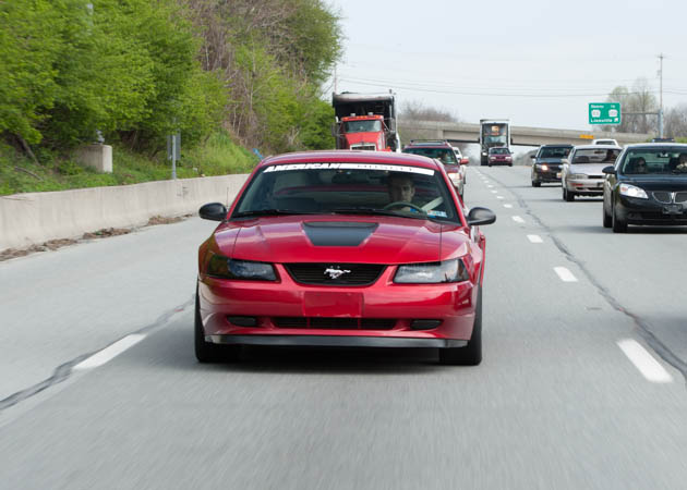 2000 Mustang GT on the Highway
