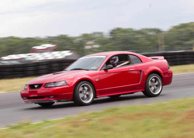 2000 Mustang GT Doing Laps at the Track