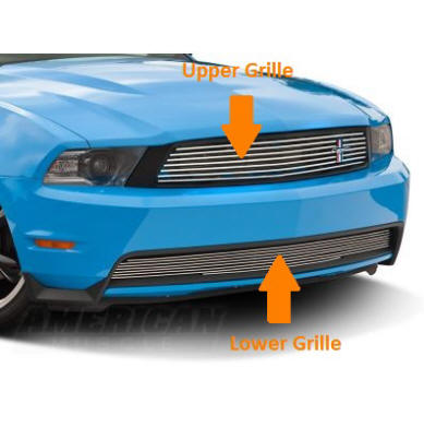 Demonstration Of The Upper And Lower Grilles Of A 2010-2014 Mustang