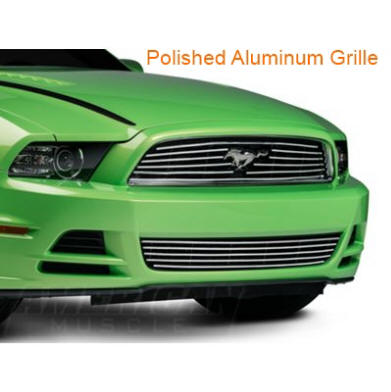 Mustang Polished Aluminum Front Grille