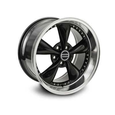 Ford Mustang Black Deep Dish Bullitt Rims With Rivets