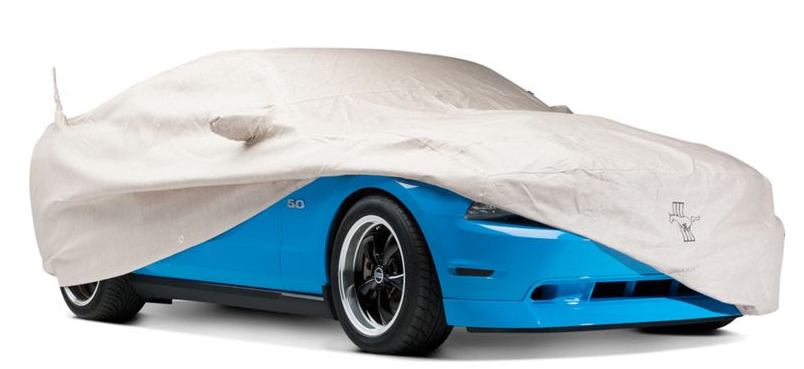 Mustang GT under a Car Cover