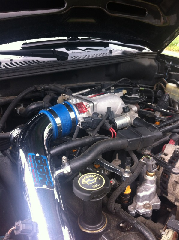 Modified Mustang GT with Aftermarket Intake