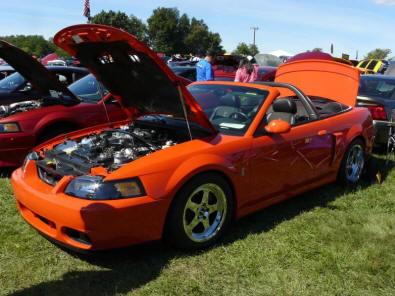 Modified Mustang at a Car Show