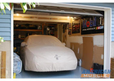 Ford Mustang under a Car Cover