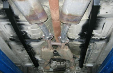 Weld-In Full Length Subframe Connectors Installed