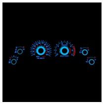 Mustang Reverse Glow Gauges