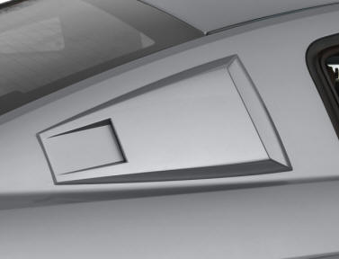 Pre-painted Mustang Window Louver